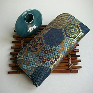 "Jingxijianjin Jin Kam weaving ""cyanate tortoiseshell"" - long clip / wallet / purse / gift"