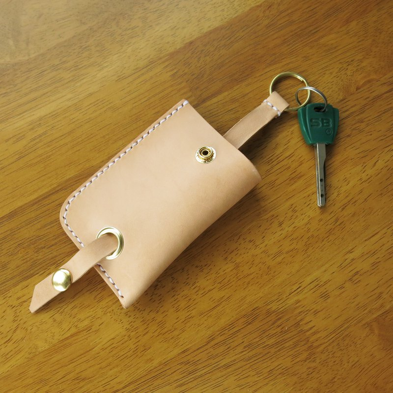 Sweet Home key bag primary color vegetable tanned leather. Hand-stitched [Jane One Piece]