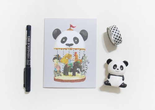 panda grocery store - this is not a merry-purpose card