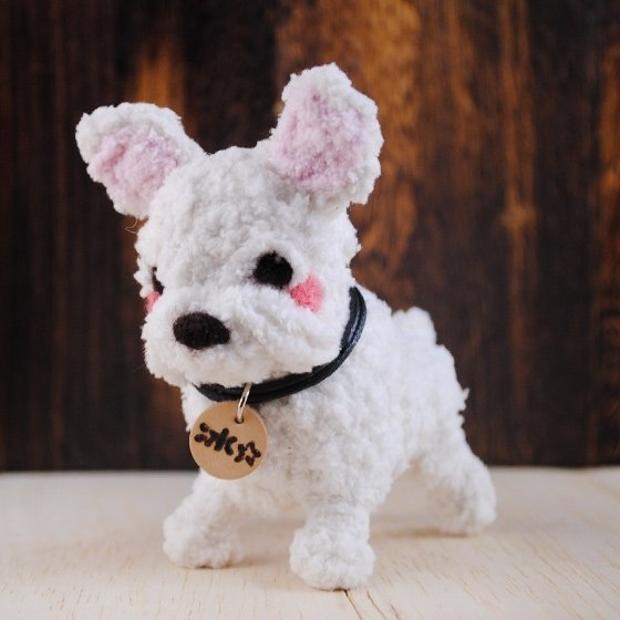 10cm pet cloned [feiwa Fei] Q edition doll handmade doll pet bulldog (Welcome to order your dog)