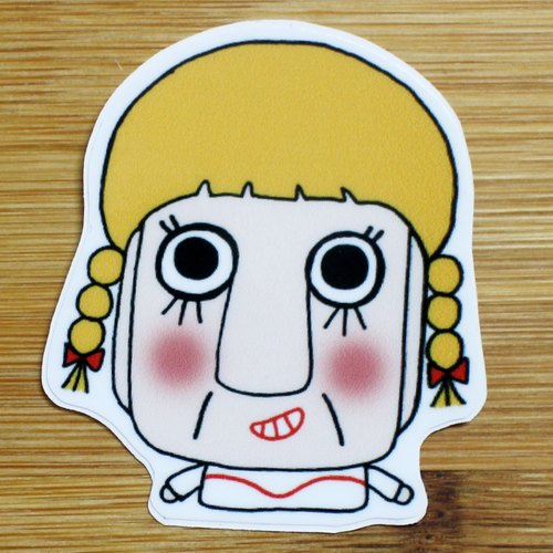 Waterproof Stickers (Small) _ Bad Guy Series 03 (Annabelle)