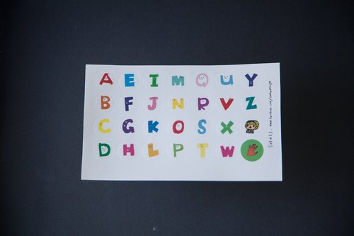 Tonight I hand - hand-painted letters small round marking labels stickers