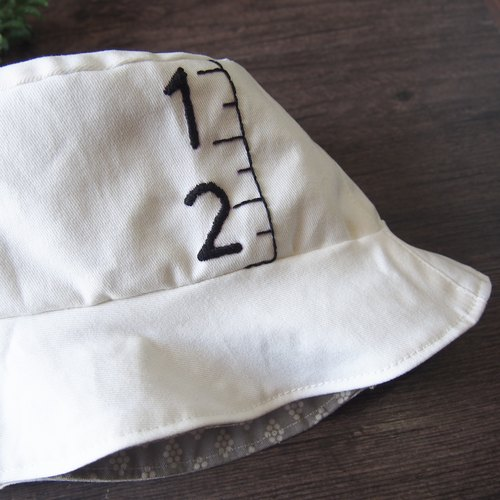 Embroidery Handmade Bucket Hat | Double sided