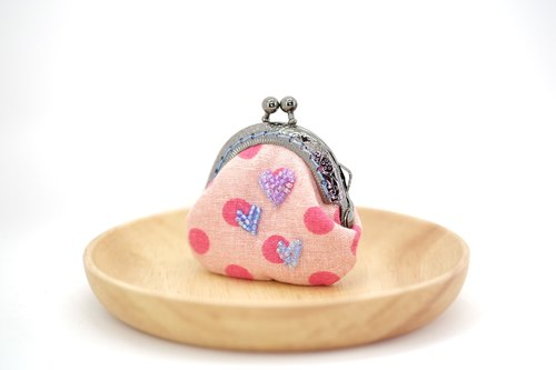【X'mas Mega Sale Up to 40% off】Glittering Hearts Tiny Kisslock Purse
