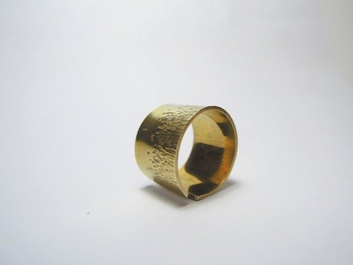Man Limited Wide Brass Ring