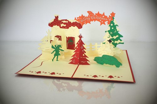 3D handmade Christmas series of cards ~
