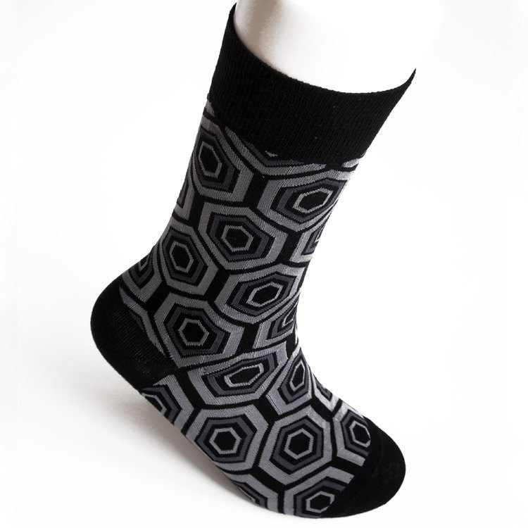 Manufacturing SOCK IT UP Taiwan 200-pin cylinder jacquard pattern socks gentleman ‧ gray lozenge