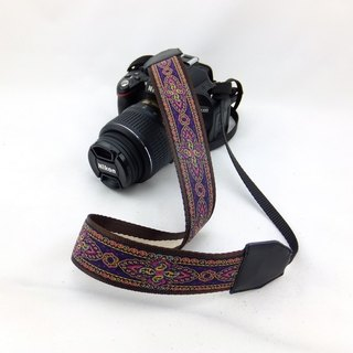 Camera strap can print personalized custom leather stitching national wind embroidery pattern 028