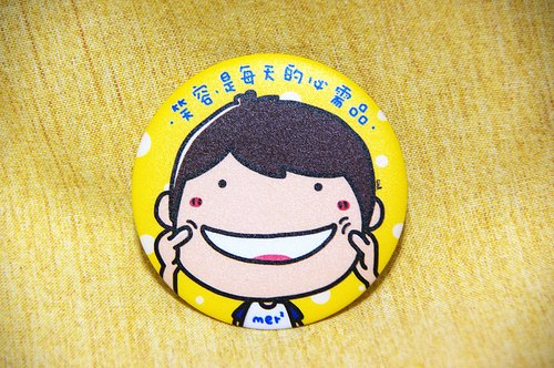 Smile, daily necessities badge / Magnets