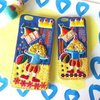 Circus Embroidery Beads Phone Case