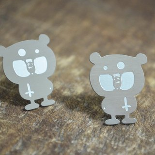 【Peej】'I Love to Eat' Stainless Steel Earrings