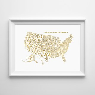 USA MAP can be customized Hanging Poster