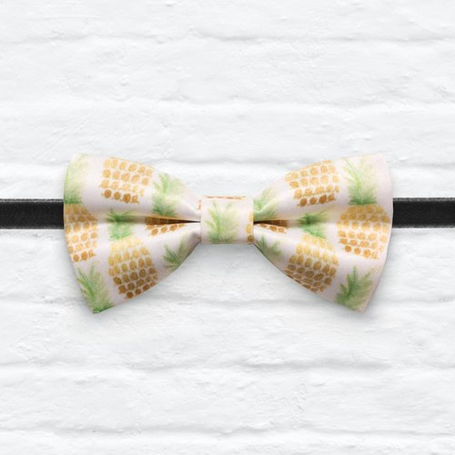 Style 0038  夏日鳳梨 印花 系列 領結 Summer Pineapple pattern bowtie