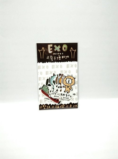 EXO painted stickers (the whole group 14)