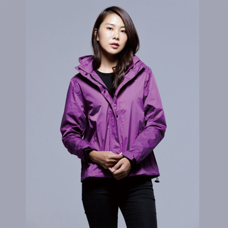 Paris Rainbow ~ simple reflective waterproof raincoat jacket / sun windbreaker / mountaineering / commuter / motorcycle / Putao Zi women