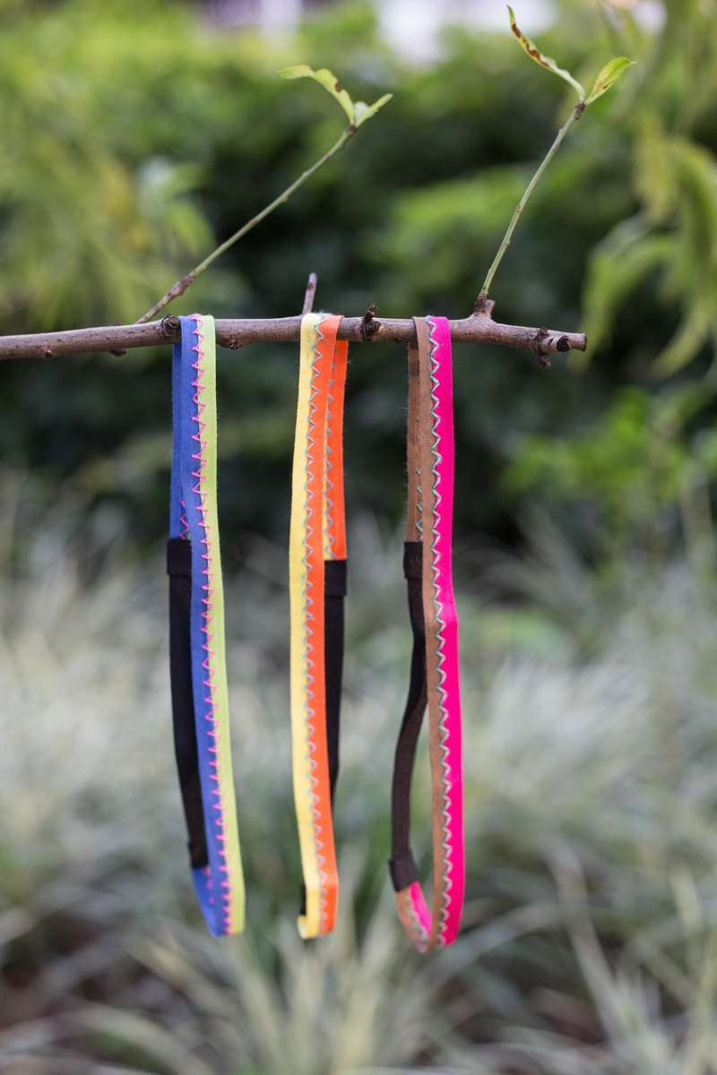 Fine version type elastic webbing headband headbands Tea ::: :: :( not sold out)
