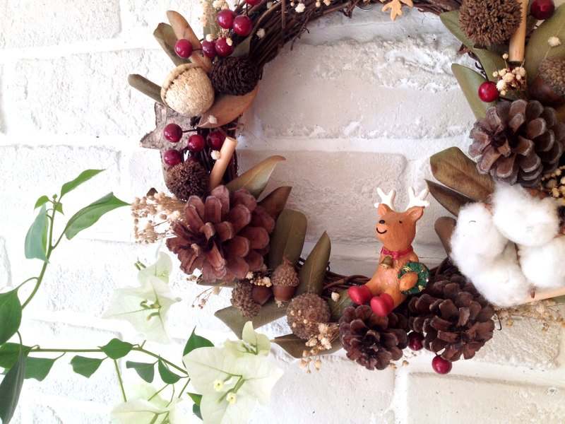Dried flower] handmade Christmas wreaths fruit Handmade Christmas ...