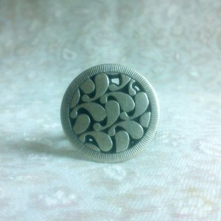 Buckle. Ring - Retro metal ring pattern buttons (big)