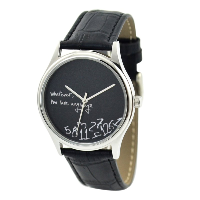 Christmas gift - how late watch (black face) - Neutral - Global Free transport