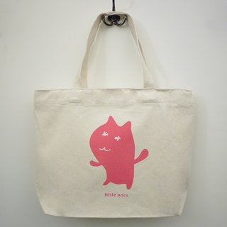 Canvas hand / shoulder bags - Flower eye cat