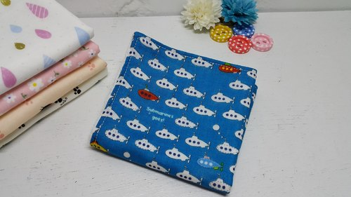 Deep-sea submarine double gauze handkerchief towel bibs absorbent towel