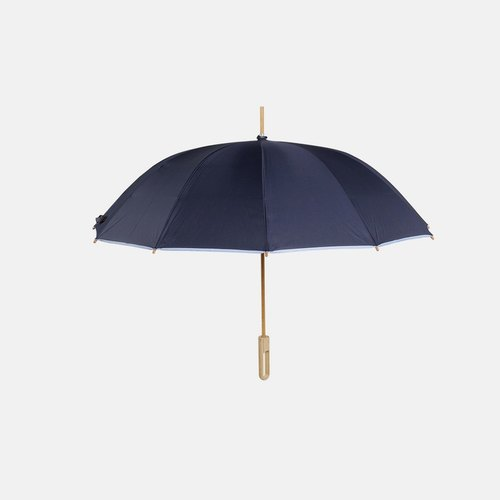 Bamboo language | plain indigo handmade bamboo long-handled umbrella red dot IF Award