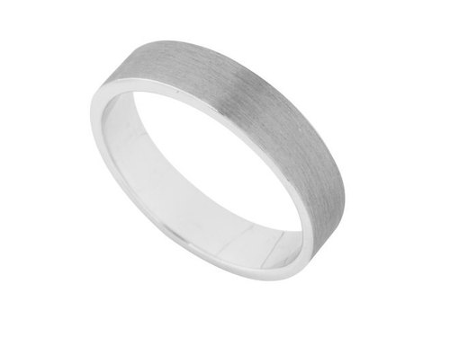 Fashion fog silver flat ring 号 9 (3.7mm)