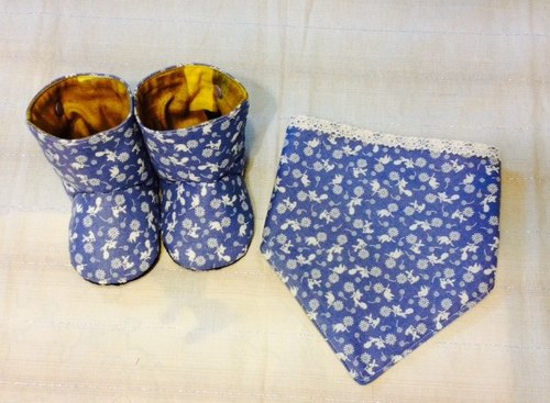 Gifts for Newborns and Toddlers! Baby Shoes and Triangular shaped bib.