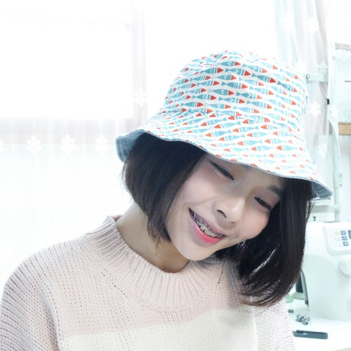 Gentle double-sided fisherman hat series | Dried fish