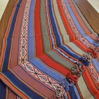 Vicuna wool colorful tablecloth - wide pattern