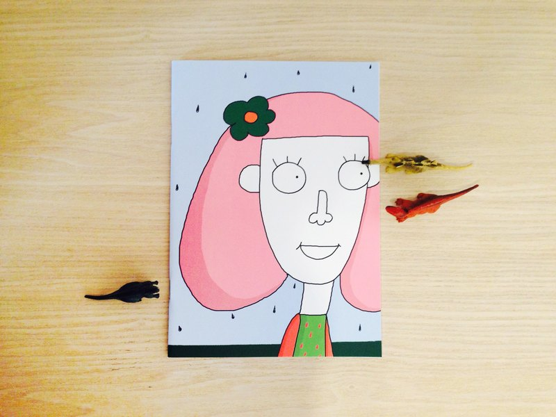 Posy Likes Rainy Days | A5 Plain Notebook