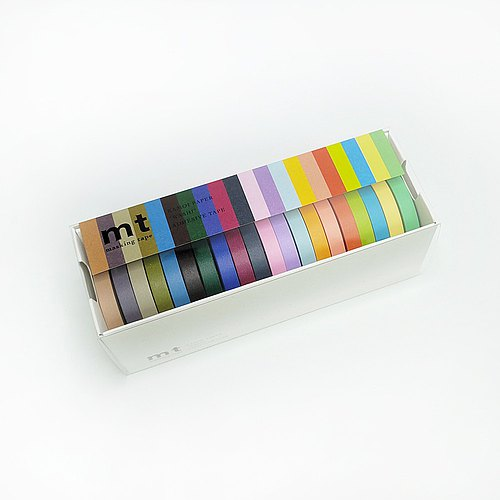 mt and paper tape 20 color box set 【bright color + dark color (MT20P002)】