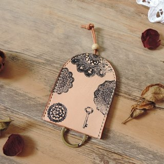 Along with pure hand-stitched by hand bell-shaped vegetable tanned leather key cases ~ Leather models