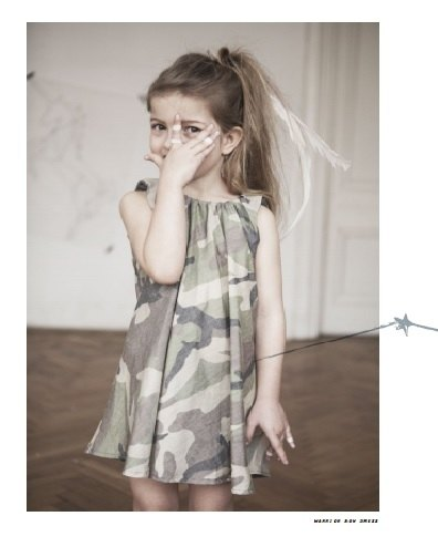 2014 spring and summer kids on the moon limited camouflage dress
