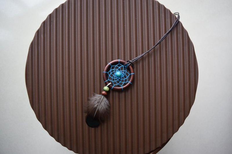 Dream Catcher // Necklace // Aqua Blue
