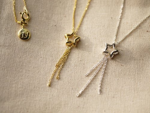 Sterling Silver Jewelry grade plating [+] Star necklace meteor.