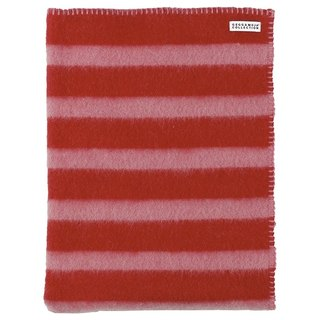 [Nordic children's clothing] Swedish organic wool blanket double-sided woven _ pink / red