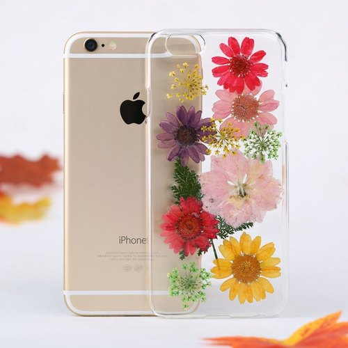iPhone Case Handmade Pressed Flower Phone Case for iPhone Samsung