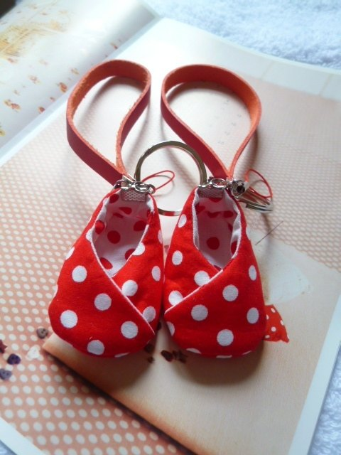 Red dot white shoes good luck shoe charms good pregnancy shoes