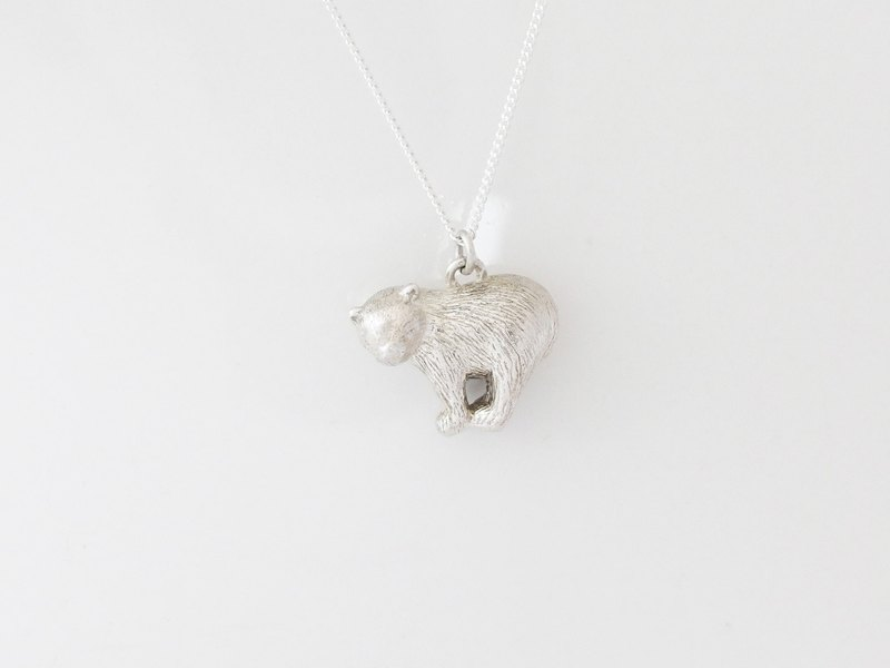 Charlene sterling silver hand-made -*Love the Earth Series - Polar Bear Necklace*