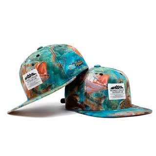 Filter017 - Baseball Cap - Wild Animal Snapback Cap - River Fishes Wild Animal Snapback Baseball Cap - Stream Fish