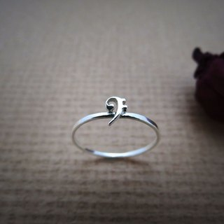 Little Note Series – Bass Clef (925 Sterling Silver Ring) - C percent