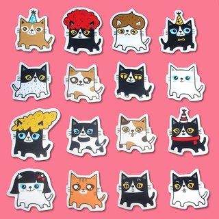 Stickers _ fat cats... big stickers 16