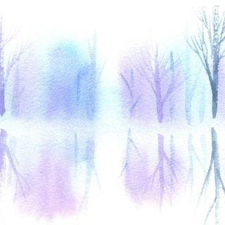 Healing Forest Series b3- Watercolor Hand Painted Limited Edition Post Card / Christmas Card