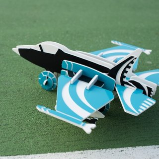 【Puzzle toys】 F-35 fighter ┇DIY three-dimensional jigsaw puzzle series of healing small objects