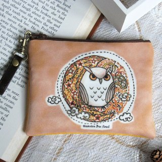 <Animals in the Secret Land>Owl under the starlight coin purse(big size)