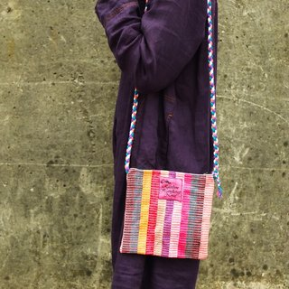【Grooving the beats】Handmade Hand Woven Side Bag / Cross Body Bag(Orange)