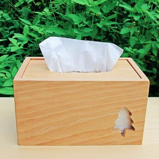 Hinoki Tissue Box Cover - Tree