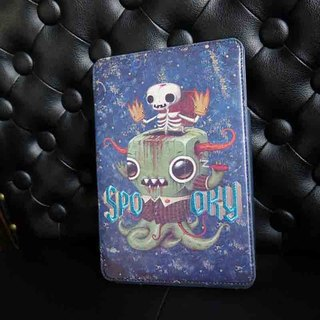 Sigema X Jason Limon iPad mini 1/2/3 Book Cover iPad mini monster embroidered leather