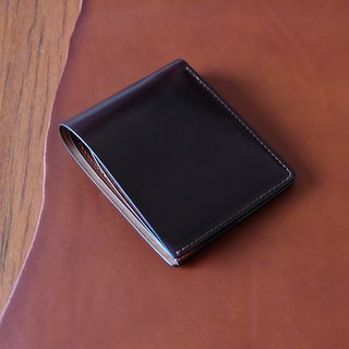 Mildy Hands - SW01 - Short clip Horween shell cordovan wallet Horse hips (Color 8)